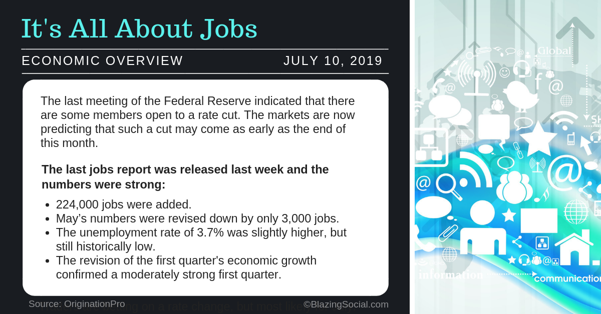 Economic Overview – July 10, 2019